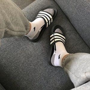 Black adidas slides 6